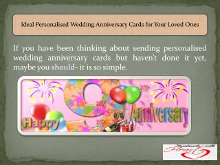 Ideal Personalised Wedding Anniversary Cards for Your Loved Ones