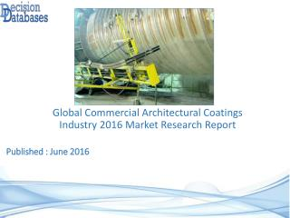 Worldwide Commercial Architectural Coatings Industry Analysis and Revenue Forecast 2016