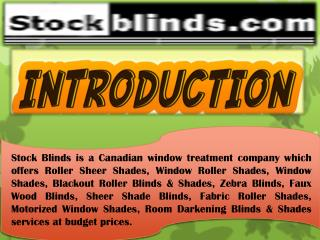 Reliable Room Darkening Blinds Company in Canada