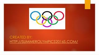 Summer Olympics 2016 Rio Games