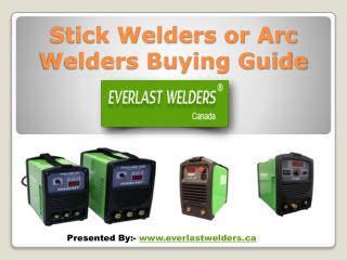 Buying Guide for Stick Welders or Arc Welders