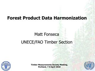 Forest Product Data Harmonization