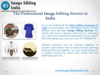 The Professional Image Editing Service in India