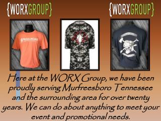 Screen printing services in Murfreesboro by Worx Group