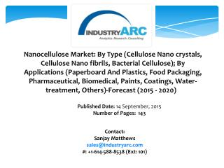 Nanocellulose Market: high applications in various end user industries owing to its properties
