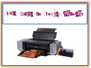 Ink Usage in Inkjet Printers
