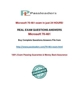 Passleader 70-461 Practice Test