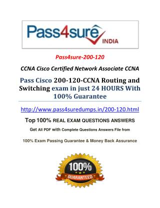 Pass4sure 200-120 Real Exam Question