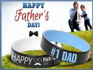 Personalized Father's Day Wristbands - Best Memorable Gift Ideas