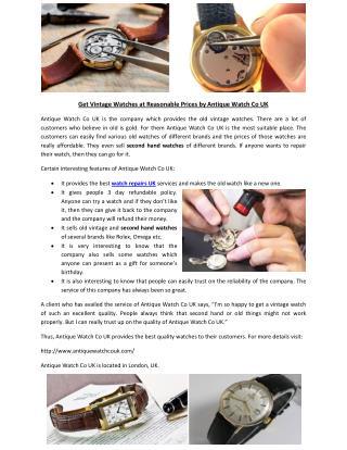 watch repairs uk