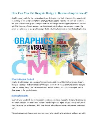 How Can You Use Graphic Design in Business Improvement?