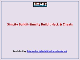 Simcity Buildit-Simcity Buildit Hack & Cheats