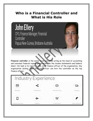 Who is a Financial Controller and What is His Role