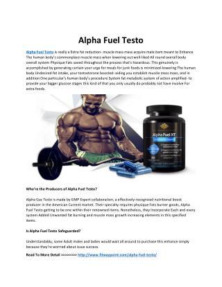 Alpha Fuel Testo