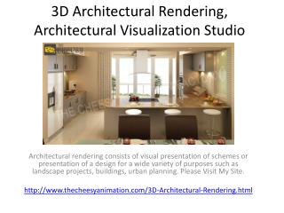 3D Architectural Rendering, Architectural Visualization Studio