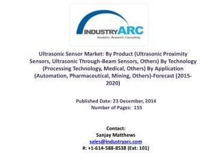 Ultrasonic Sensor Market: Medical and Automation Industrial sector are the major applications during 2015-2020