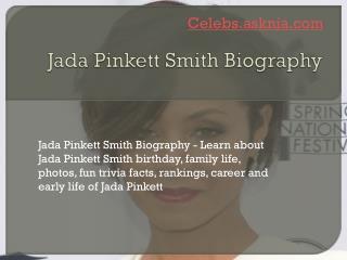 Jada Pinkett Smith Biography | Biography of Jada Pinkett Smith