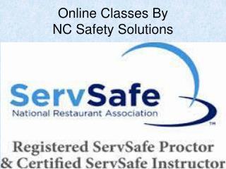 Online Servsafe Course In North Carolina