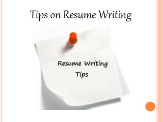 Willialm Almonte - Tips on Resume Writing
