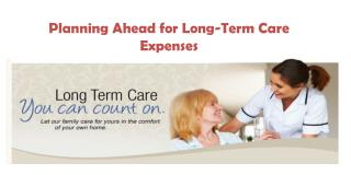 Planning Ahead for Long-Term Care Expenses