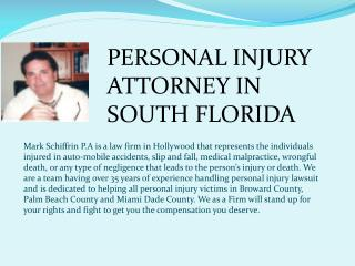 Personal Injury Attorney in South Florida