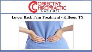 Lower Back Pain Treatment - Killeen, TX