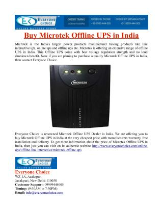 Buy Microtek Offline UPS in India