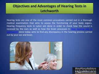 Objectives and Advantages of Hearing Tests in Letchworth