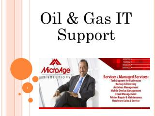 Oil & gas IT support