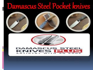 Damascus Steel Pocket knives