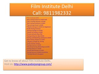 Film Institute Delhi, Acting Course in Delhi, Top 5 Acting Schools in Delhi, Acting College in Delhi