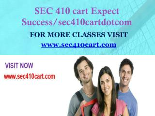 SEC 410 cart Expect Success/sec410cartdotcom