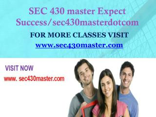 SEC 430 master Expect Success/sec430masterdotcom