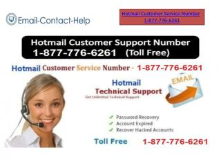 Hotmail Customer Service for USA 1-877-776-6261 Toll Free