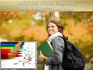 MGT 521 NERD Inspiring Minds/mgt521nerd.com