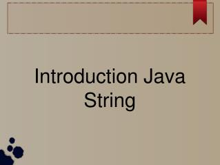 introduction java string