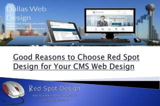 Good Reasons to Choose Red Spot Design for Your CMS Web Design