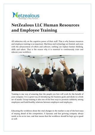 NetZealous LLC Human Resources and Employee Training