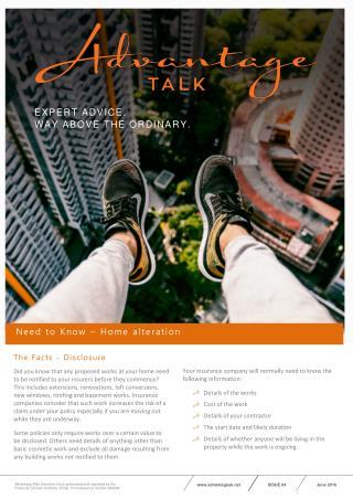Advantage Talk - Need to Know
