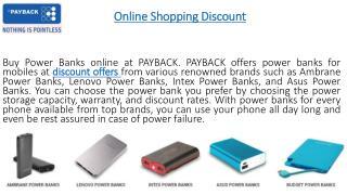 Discount Coupons at PAYBACK
