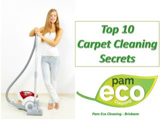 Top 10 Carpet Cleaning Secrets