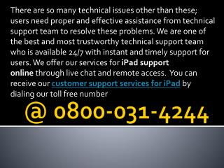 Apple ipad Customer Support Number