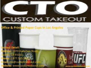 Office & Printed Paper Cups in Los Angeles