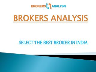 Discount Brokers In India