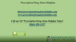 Prescription Drug Abuse Helpline