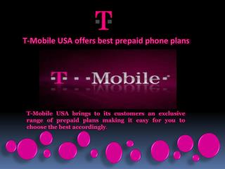 T-Mobile USA offers best prepaid phone plans