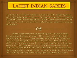 LATEST INDIAN SAREE