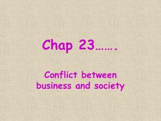Chap 23  .