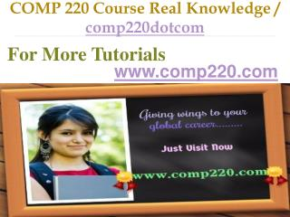 COMP 220 Course Real Knowledge / comp220dotcom