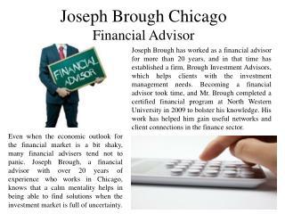 Joseph Brough Chicago - Financial Advisor